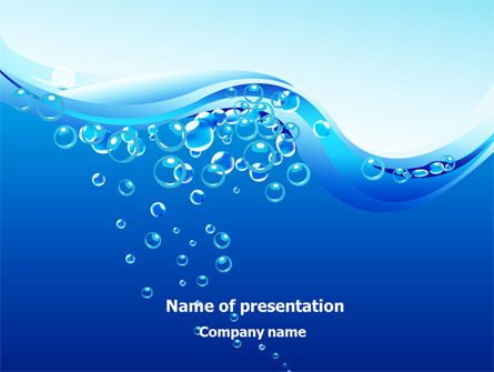 Water Bubbles Presentation Template For Powerpoint And