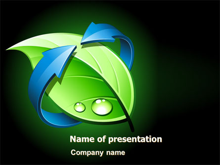 Green Recycling Presentation Template, Master Slide