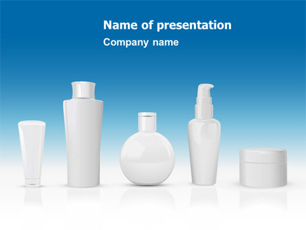Toiletries Presentation Template, Master Slide