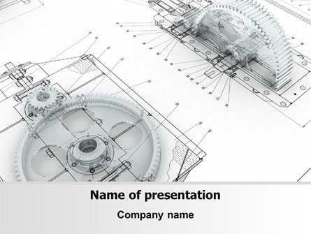 Engineering Drawing Presentation Template, Master Slide