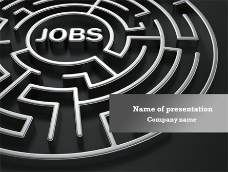 Employment Labyrinth Presentation Template for PowerPoint and ...