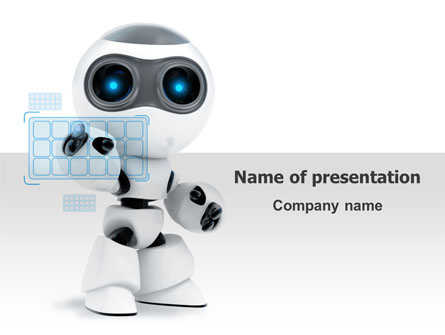 Robot Model Presentation Template for PowerPoint and ...