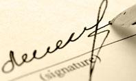 Signature In A Sepia Presentation Template