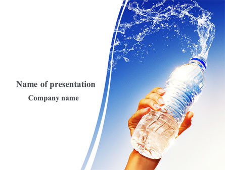 Mineral Water Presentation Template For Powerpoint And