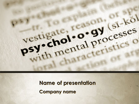 Definition Of Psychology Presentation Template For Powerpoint And