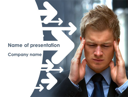 Business Trouble Presentation Template, Master Slide