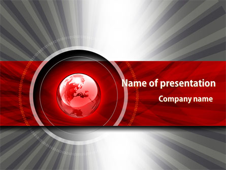 Red Globe Theme Presentation Template, Master Slide
