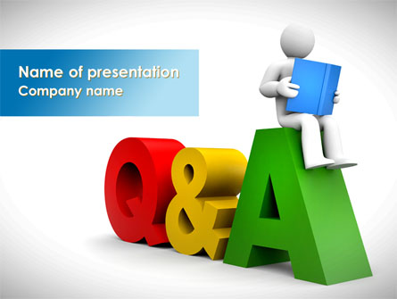 Questions answers presentation template for powerpoint for Question and answer powerpoint template