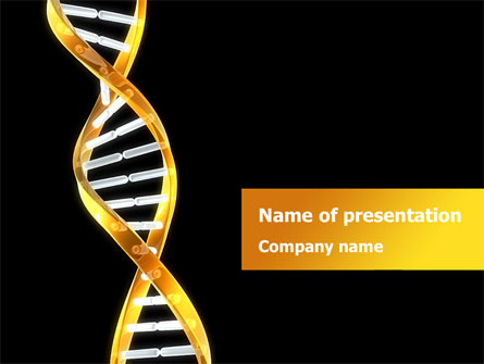 gold dna string presentation template for powerpoint and keynote, Presentation templates