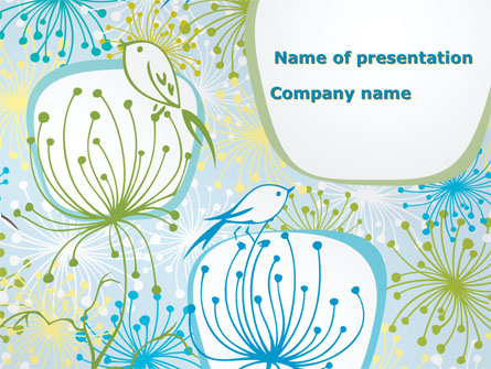 Flowers And Birds Presentation Template For Powerpoint And Keynote