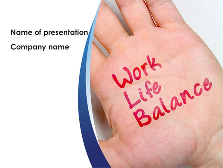 work-life balance presentation template for powerpoint and keynote, Presentation templates