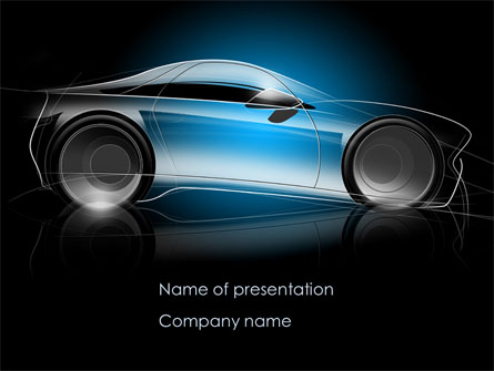 concept car modeling presentation template for powerpoint