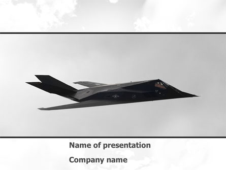 Nighthawk Stealth Presentation Template, Master Slide
