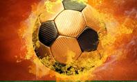 Flaming Football Presentation Template