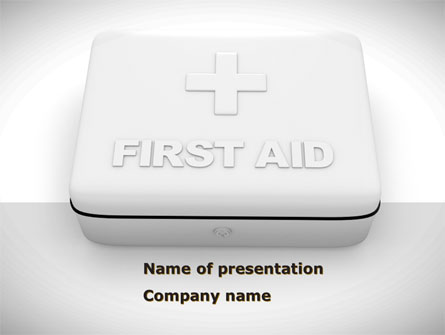 First Aid Box Presentation Template For Powerpoint And Keynote Ppt