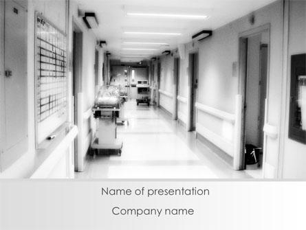 Hospital corridor presentation template for powerpoint and keynote hospital corridor presentation template master slide toneelgroepblik Images