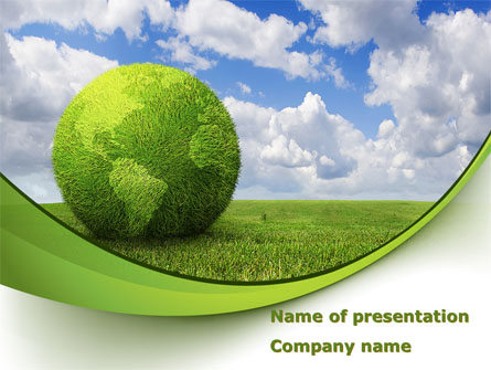 Green Globe Presentation Template For Powerpoint And Keynote Ppt Star