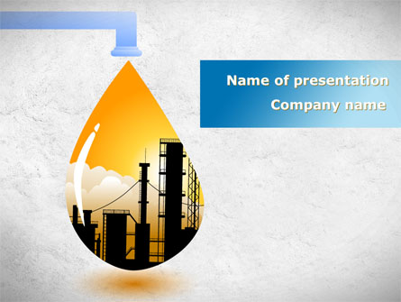 Oil plant presentation template for powerpoint and keynote ppt star oil plant presentation template master slide toneelgroepblik Images