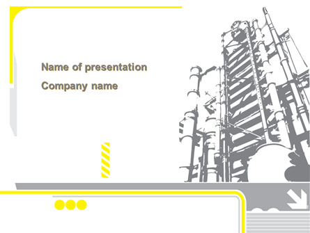Chemical Industry Rectification Column Presentation Template