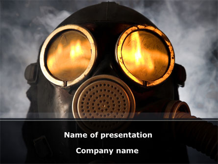 Gas Poisoning Presentation Template, Master Slide