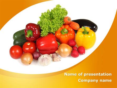 Vegetable Diet Presentation Template, Master Slide