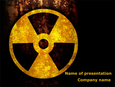 Radioactivity Presentation Template, Master Slide