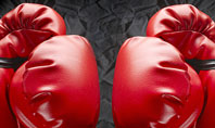 Red Boxing Gloves Presentation Template