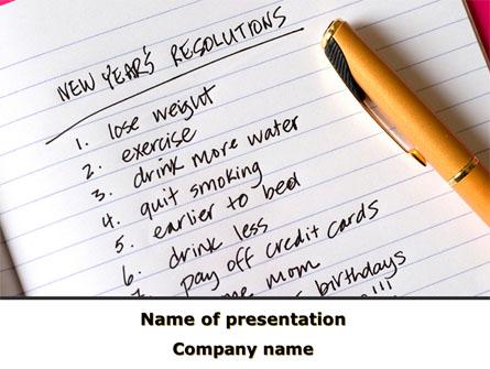 New year resolutions presentation template for powerpoint and new year resolutions presentation template master slide toneelgroepblik Choice Image