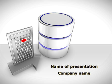 Database Development Presentation Template For Powerpoint And