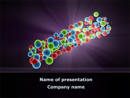 Cell Aggregates Free Presentation Template For Powerpoint And