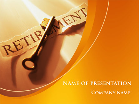 retirement pension plan presentation template for powerpoint and