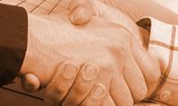 Handshake In Sepia Presentation Template