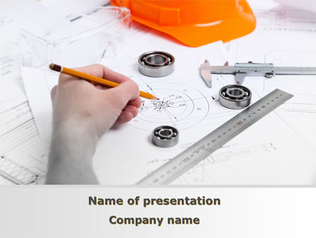 Technical Engineering Presentation Template, Master Slide