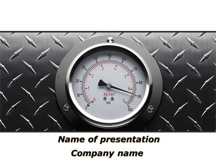 Pressure Gauge Presentation Template, Master Slide