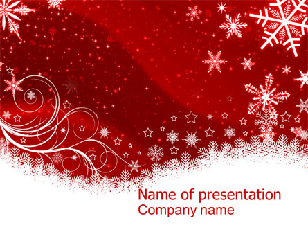 Snowflake Blizzard Presentation Template For Powerpoint And Keynote