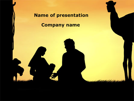 Birth Of Jesus Presentation Template For Powerpoint And Keynote
