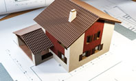 Brown Roof Cottage Construction Presentation Template