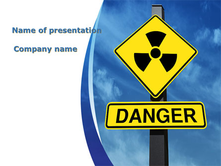 Radioactive Danger Presentation Template, Master Slide