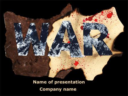 War Presentation Template, Master Slide