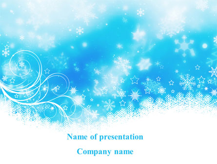snowflakes swirl presentation template for powerpoint and keynote, Powerpoint
