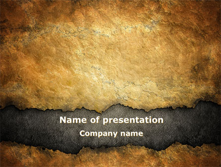 old parchment presentation template for powerpoint and