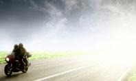 Bike On The Road Presentation Template