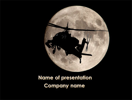 Attack Helicopter AH-64 Apache Presentation Template, Master Slide