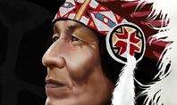 American Indian Chief Presentation Template