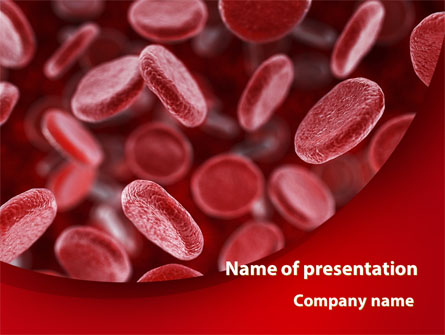 red blood cells stream presentation template for powerpoint and