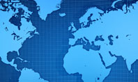 Global Map In Blue Presentation Template