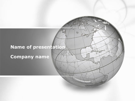 Globe Transparent Model Presentation Template For Powerpoint And