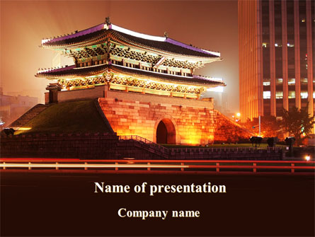 Modern China Night Presentation Template For Powerpoint And Keynote