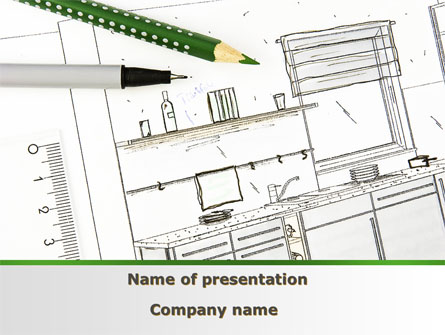 kitchen interior design presentation template for powerpoint and keynote ppt star