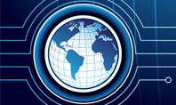 Blue Globe of Earth Presentation Template